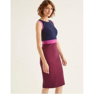 BODEN Celia Ottoman Sheath Dress Ruby Ring / Plum